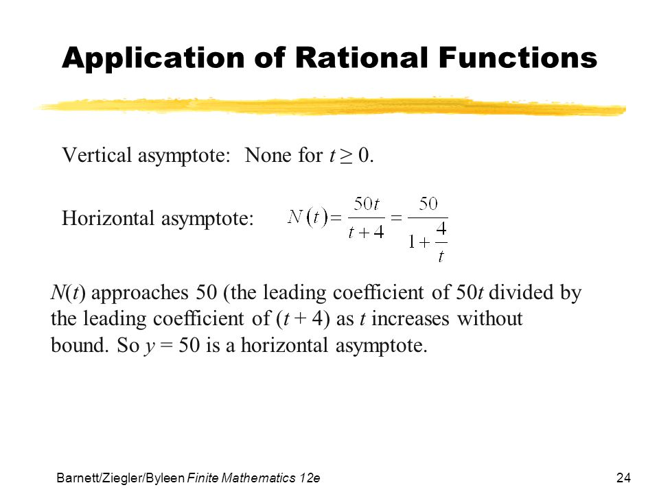 Application of Rational Functions
