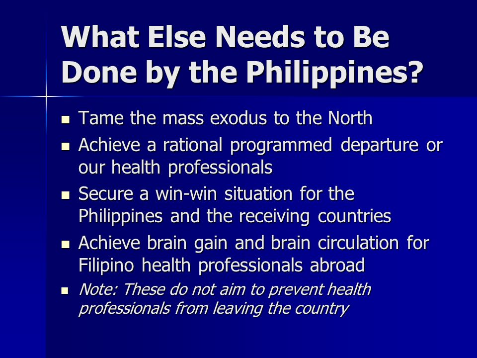What Else Needs to Be Done by the Philippines