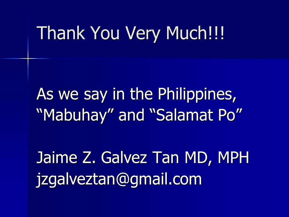 Thank You Very Much!!! As we say in the Philippines,