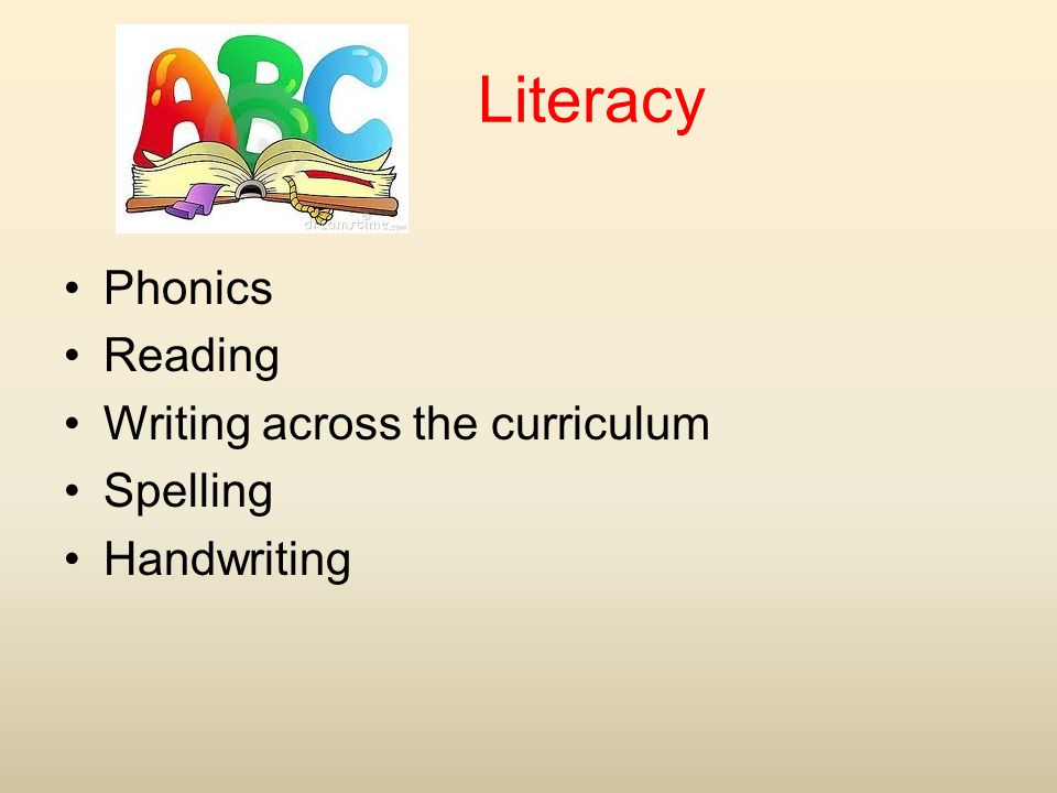 Literacy Phonics Reading Writing across the curriculum Spelling