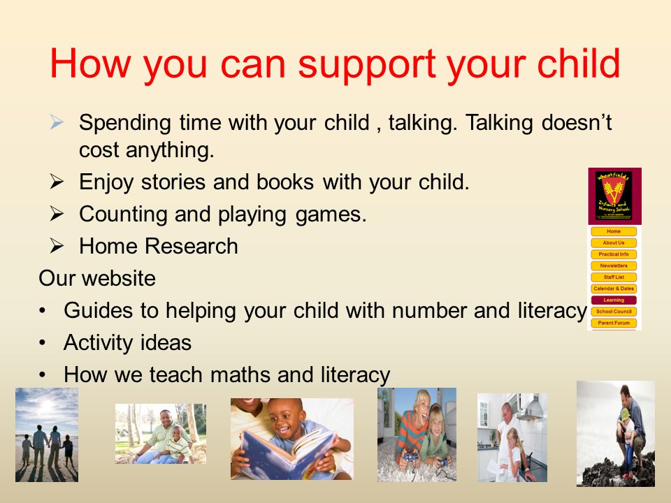How you can support your child