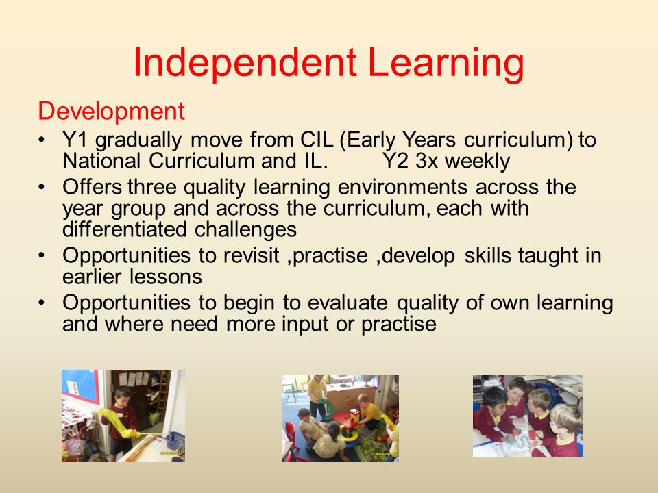Independent Learning Development