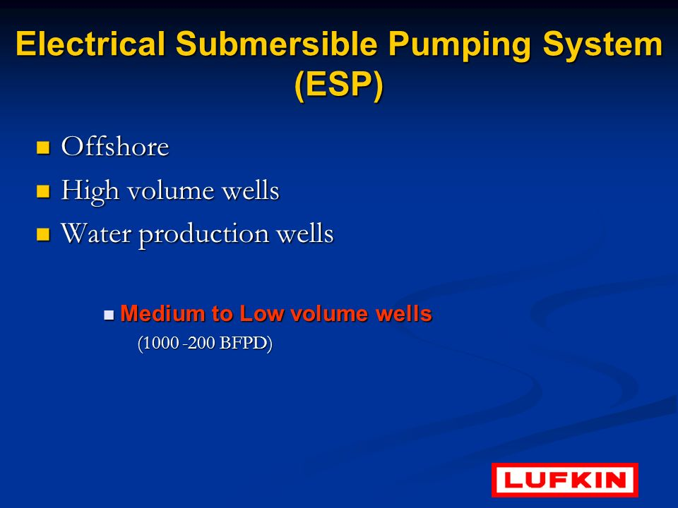Electrical Submersible Pumping System (ESP)