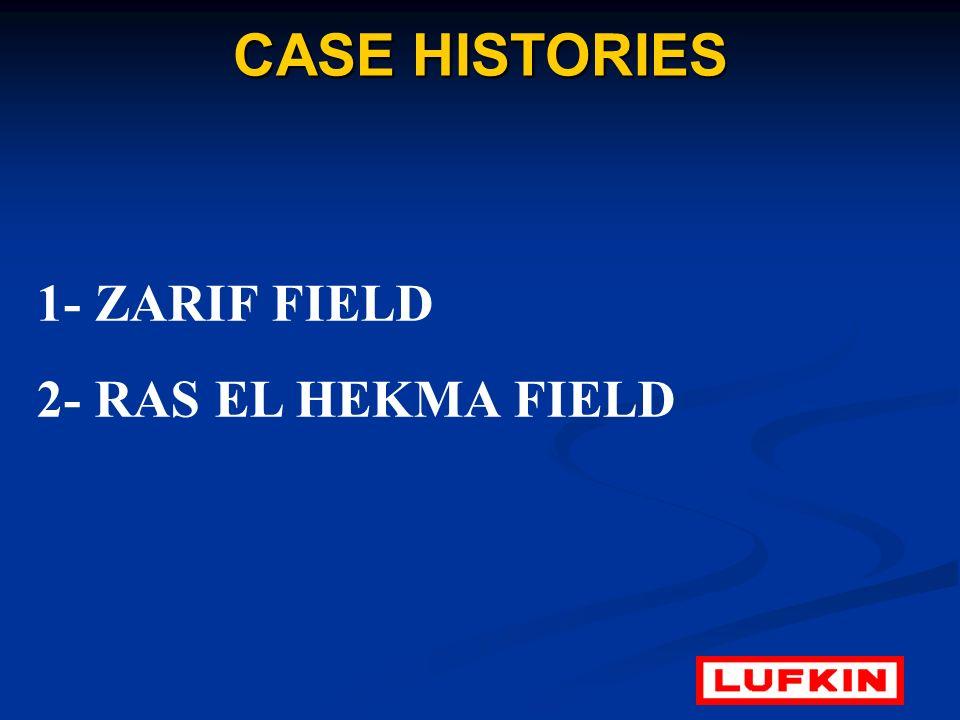 CASE HISTORIES 1- ZARIF FIELD 2- RAS EL HEKMA FIELD