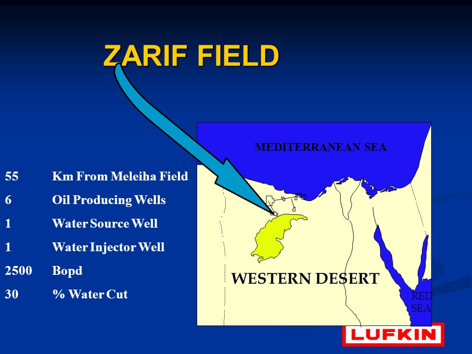 ZARIF FIELD WESTERN DESERT 55 Km From Meleiha Field