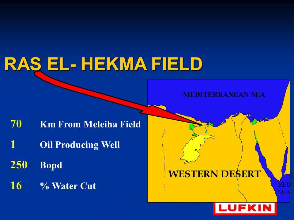 RAS EL- HEKMA FIELD 70 Km From Meleiha Field 1 Oil Producing Well