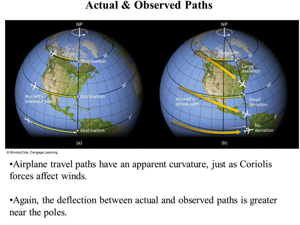 Actual & Observed Paths