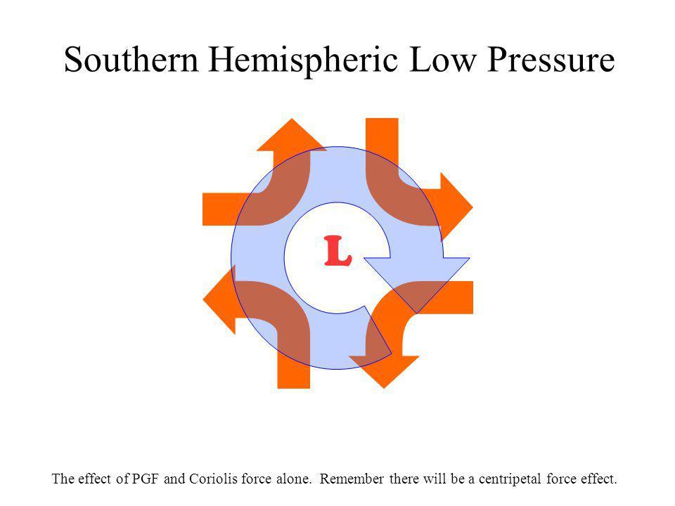 Southern Hemispheric Low Pressure