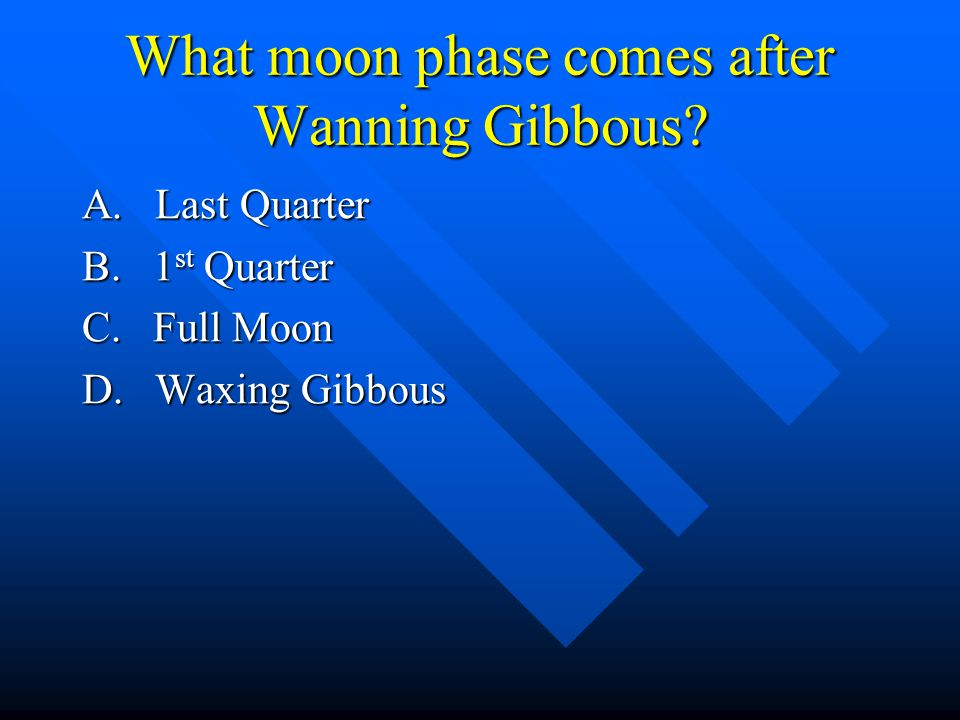 What moon phase comes after Wanning Gibbous