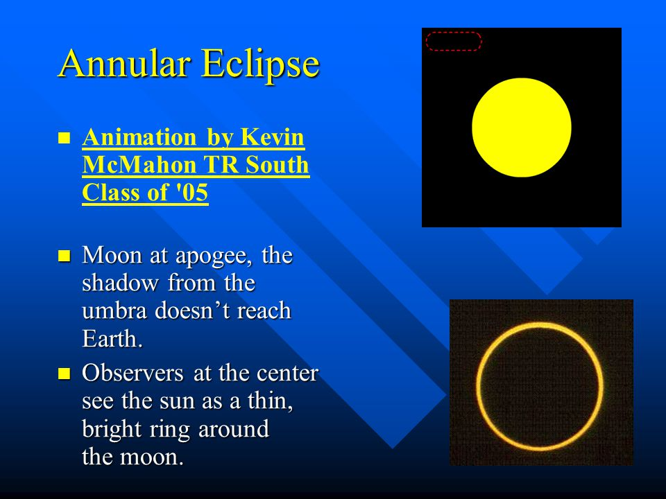 Annular Eclipse Animation by Kevin McMahon TR South Class of 05