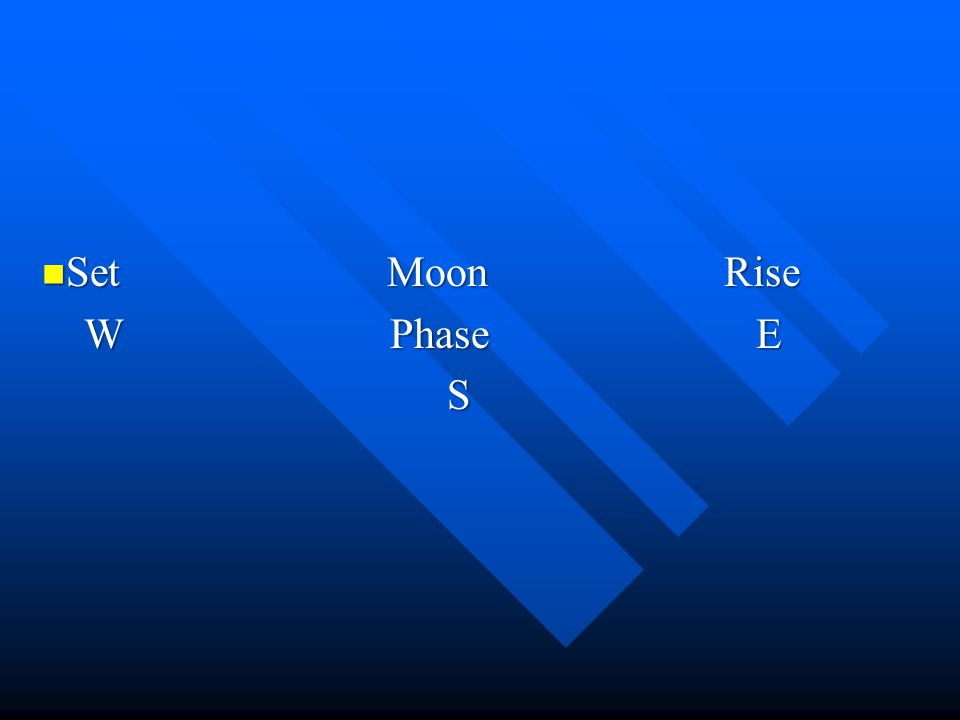 Set Moon Rise W Phase E.