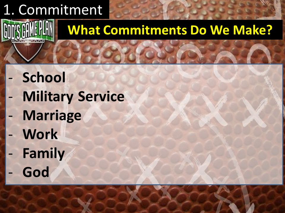 What Commitments Do We Make