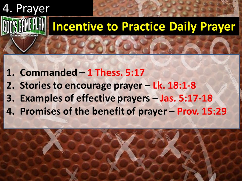 Incentive to Practice Daily Prayer
