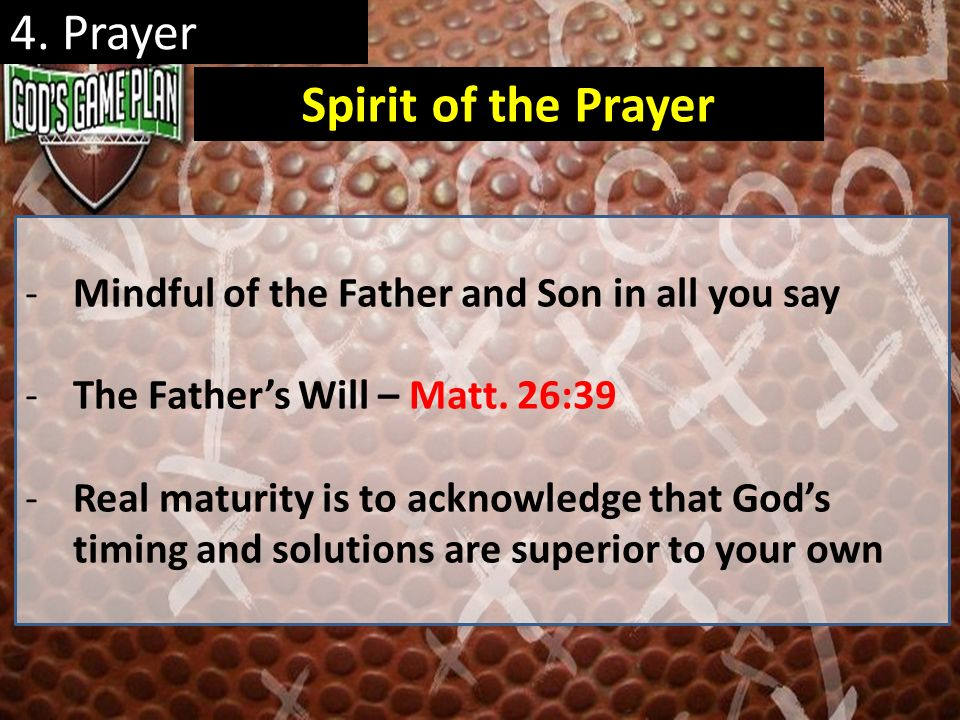 4. Prayer Spirit of the Prayer