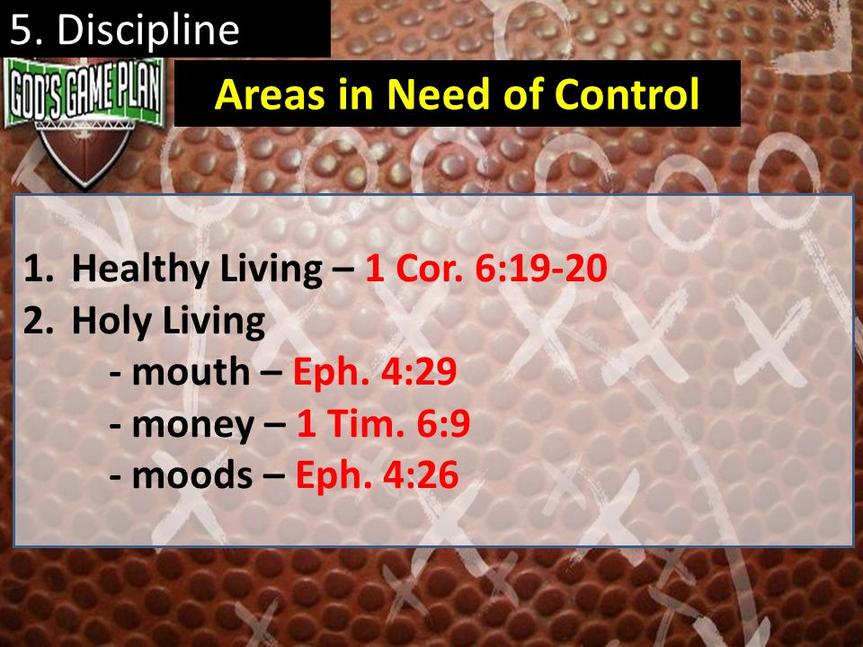 Areas in Need of Control