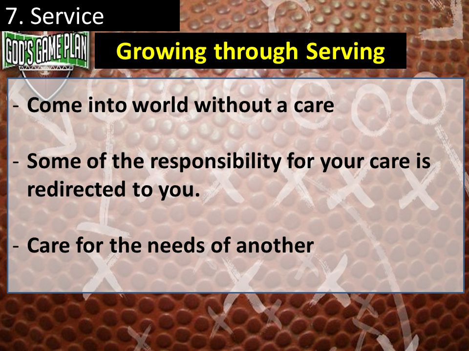 Growing through Serving