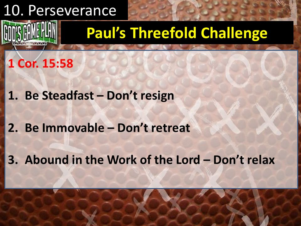 Paul's Threefold Challenge
