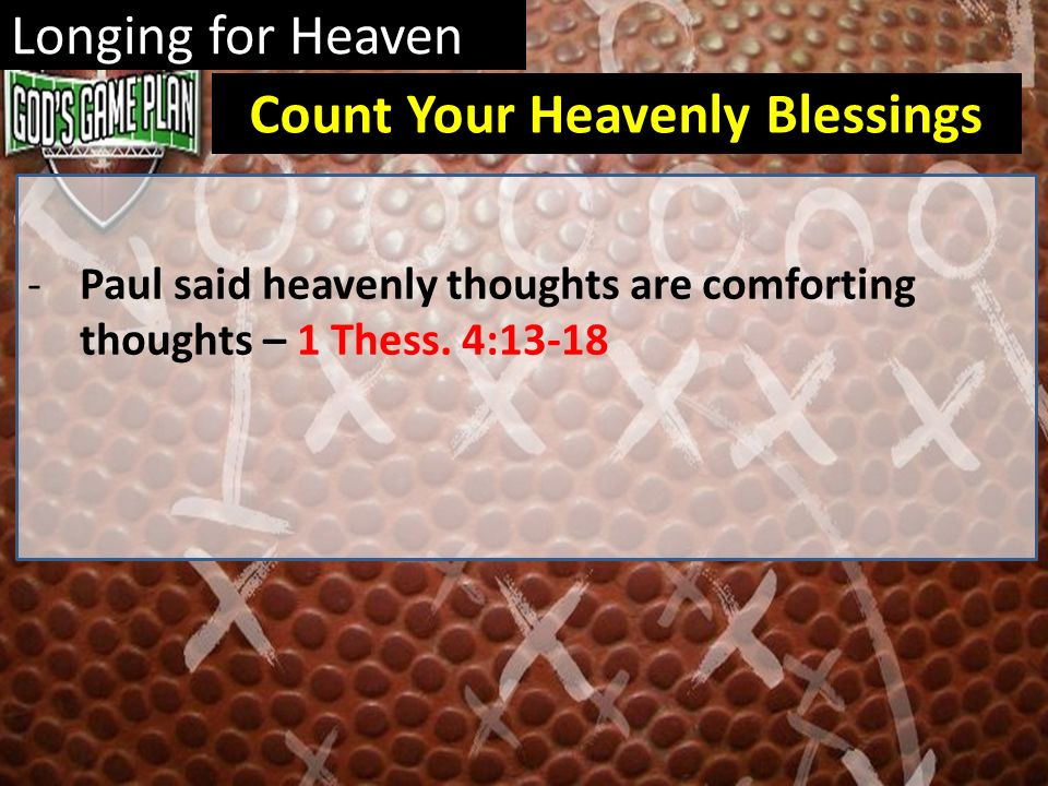 Count Your Heavenly Blessings