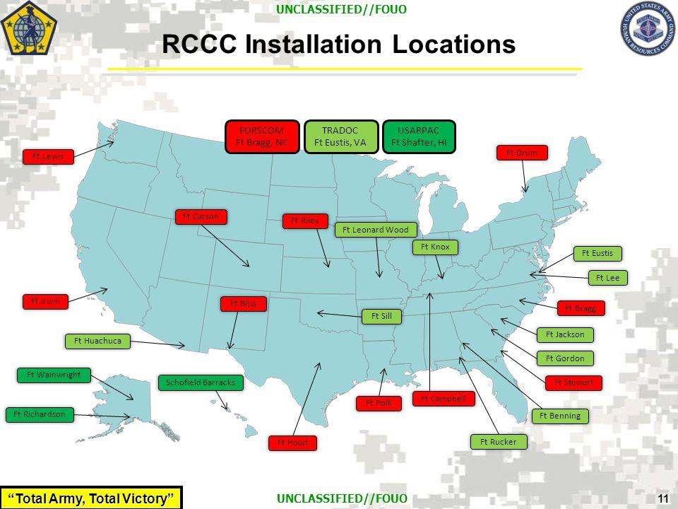 RCCC Installation Locations
