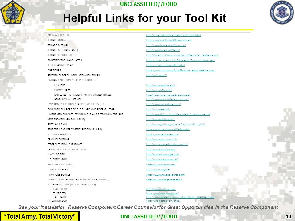 Helpful Links for your Tool Kit