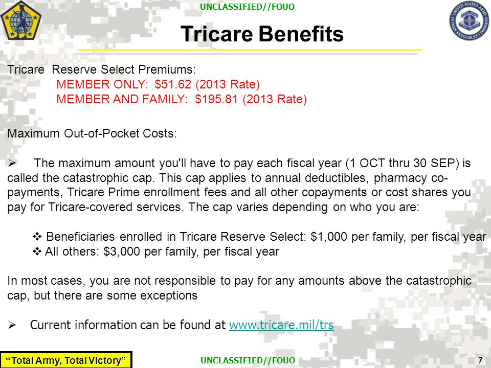 Tricare Benefits Tricare Reserve Select Premiums: