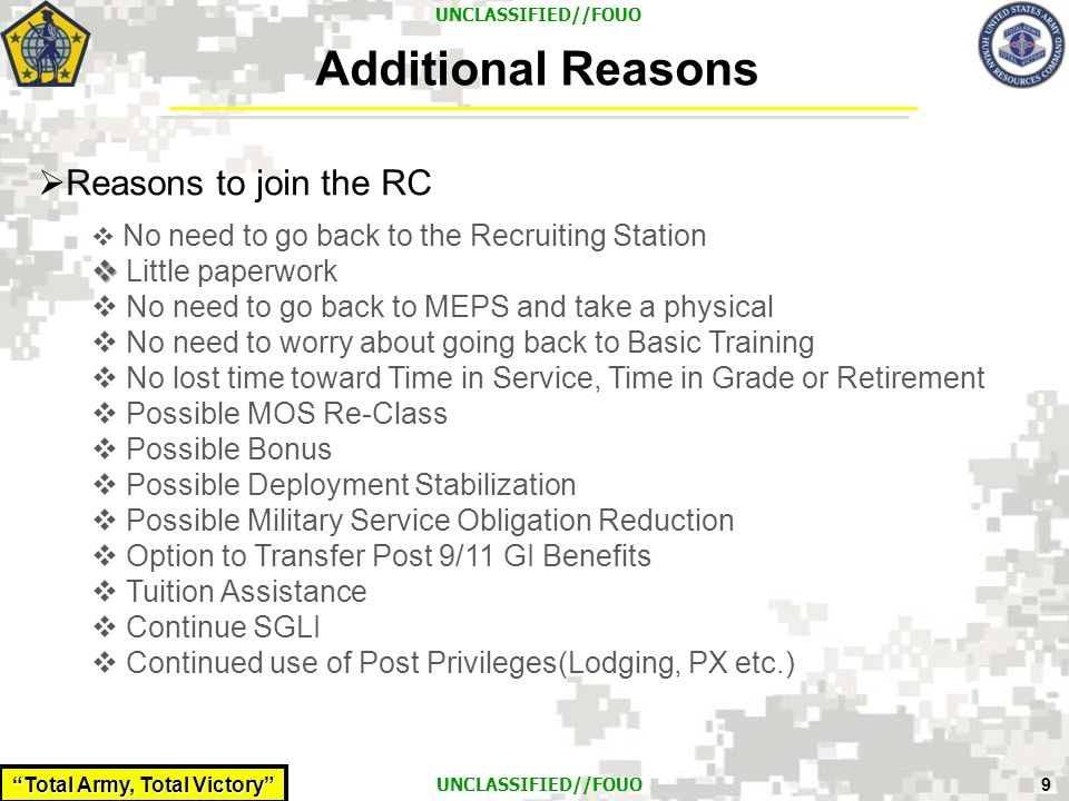 Additional Reasons Reasons to join the RC Little paperwork