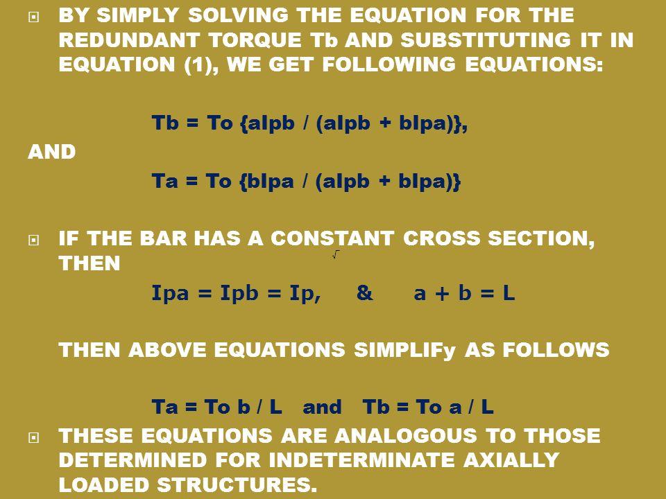 Ta = To {bIpa / (aIpb + bIpa)}