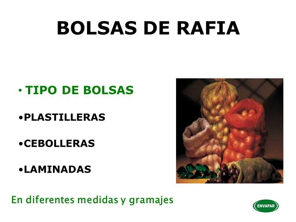 BOLSAS DE RAFIA TIPO DE BOLSAS PLASTILLERAS CEBOLLERAS LAMINADAS