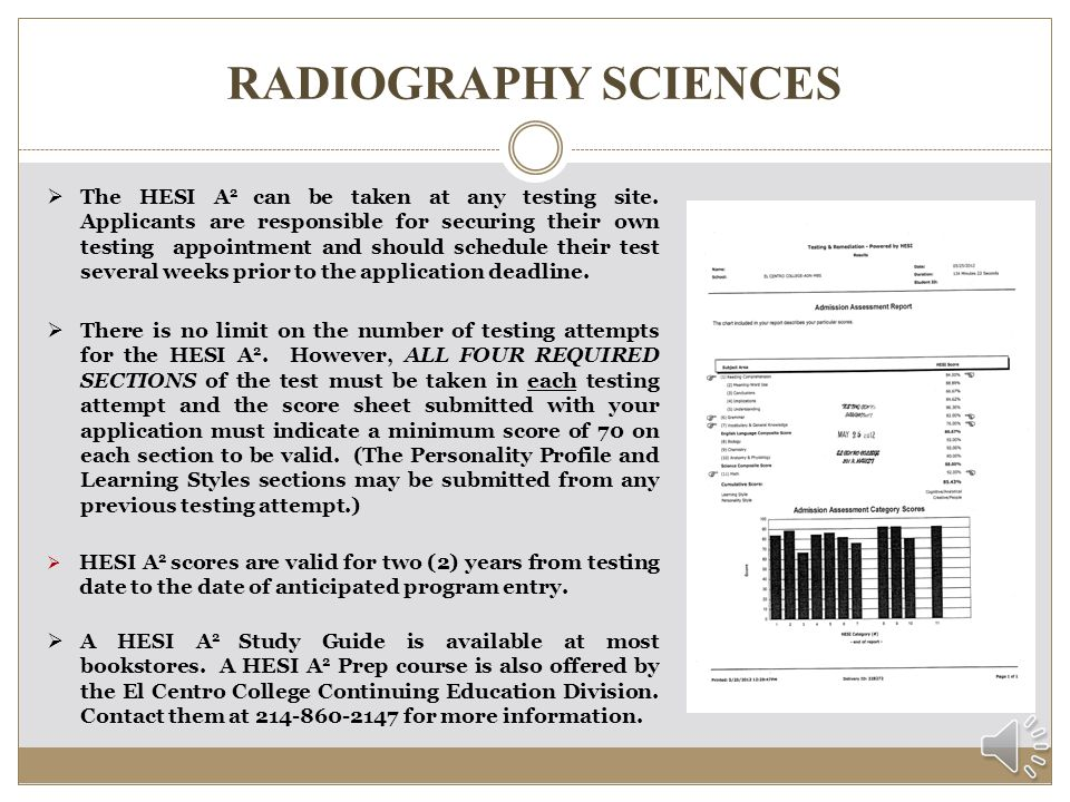 RADIOGRAPHY SCIENCES