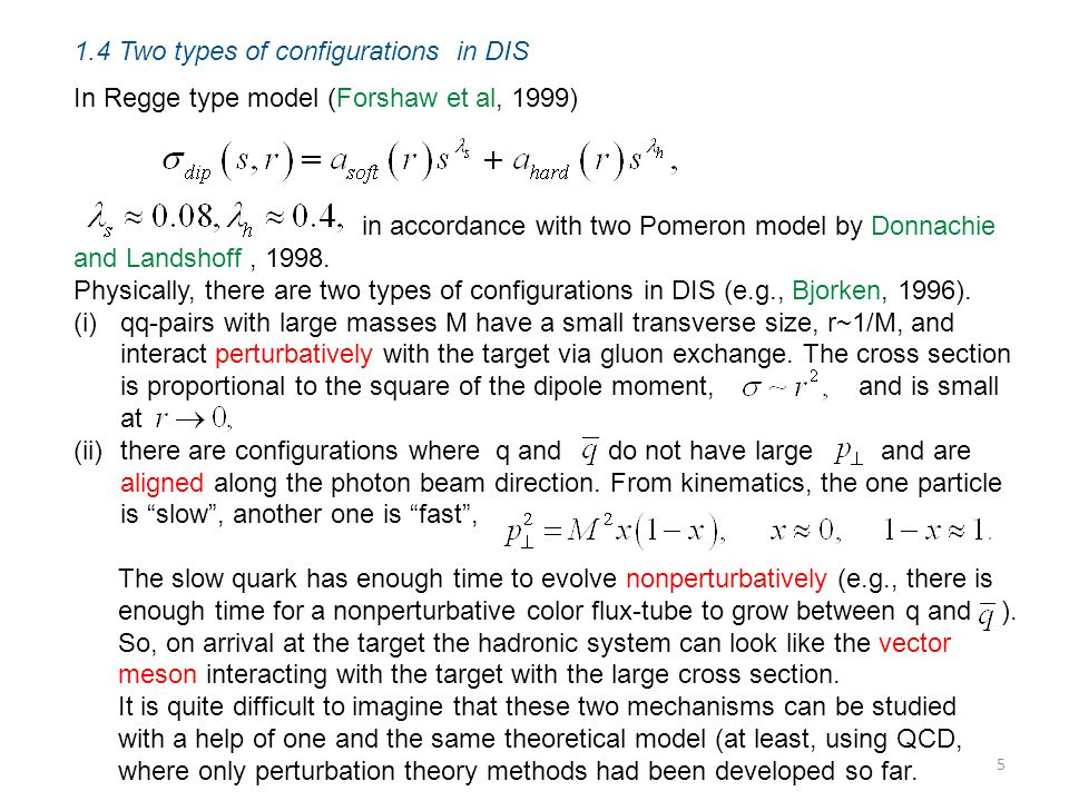 1.4 Two types of configurations in DIS