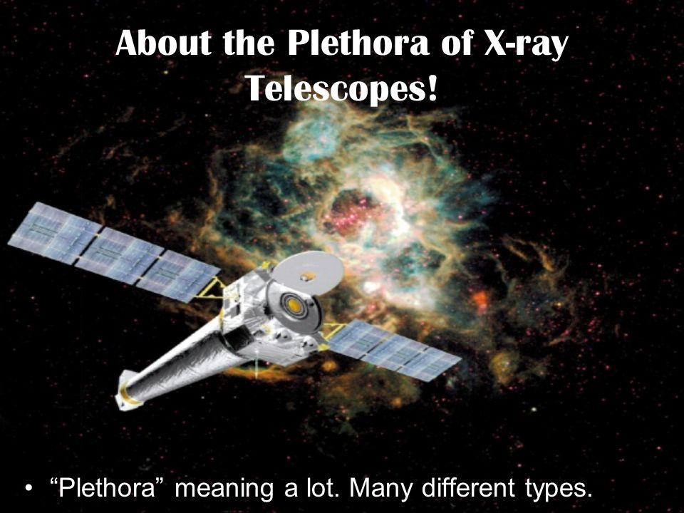 About the Plethora of X-ray Telescopes!