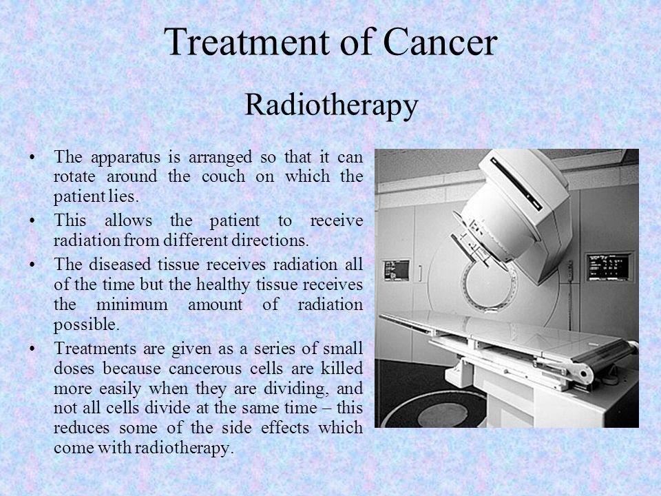 Treatment of Cancer Radiotherapy