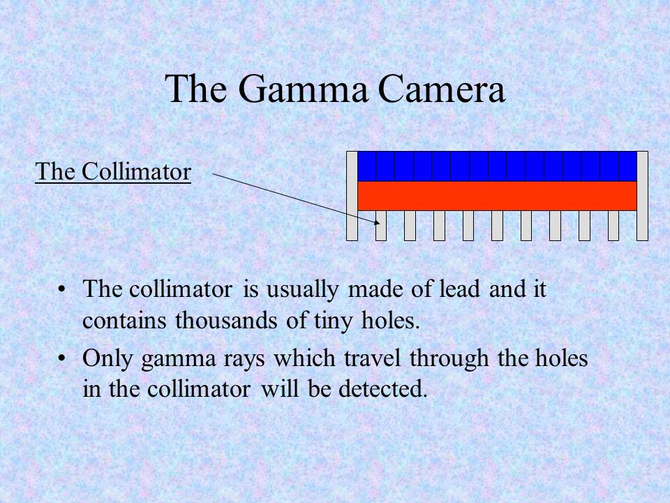 The Gamma Camera The Collimator