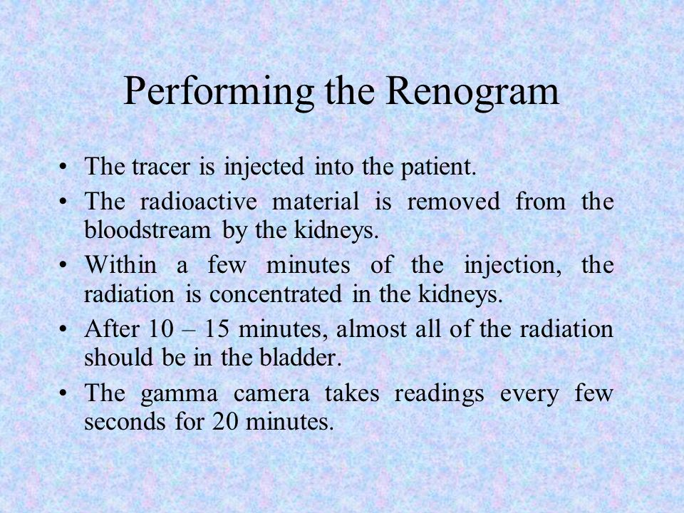 Performing the Renogram