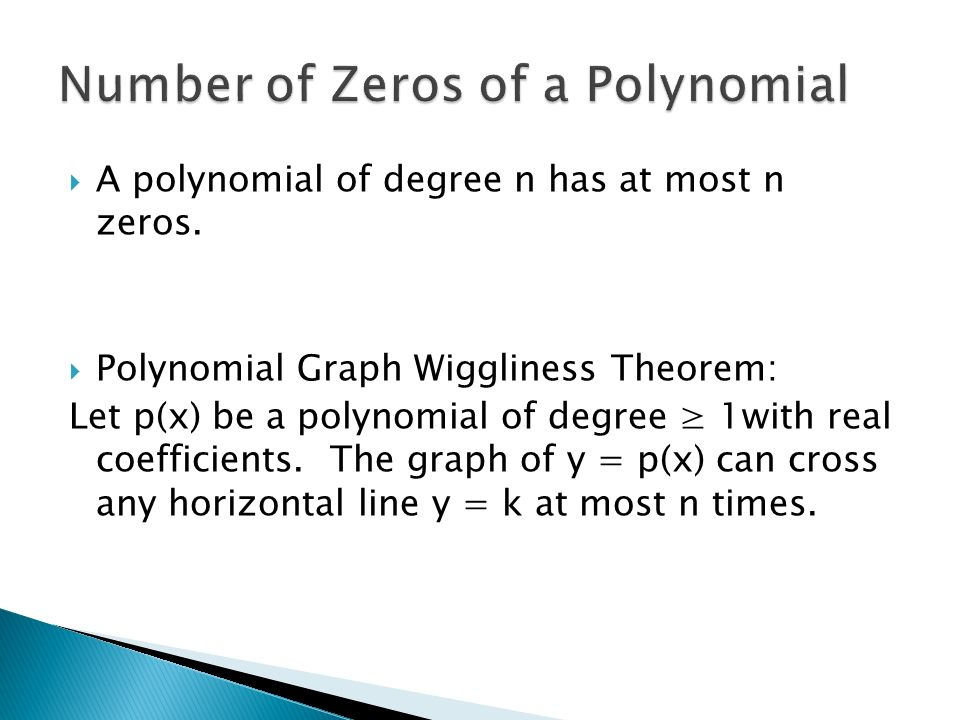 Number of Zeros of a Polynomial