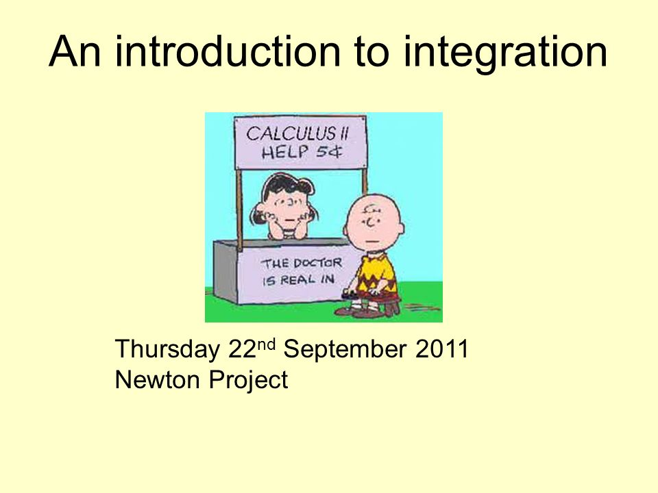 An introduction to integration