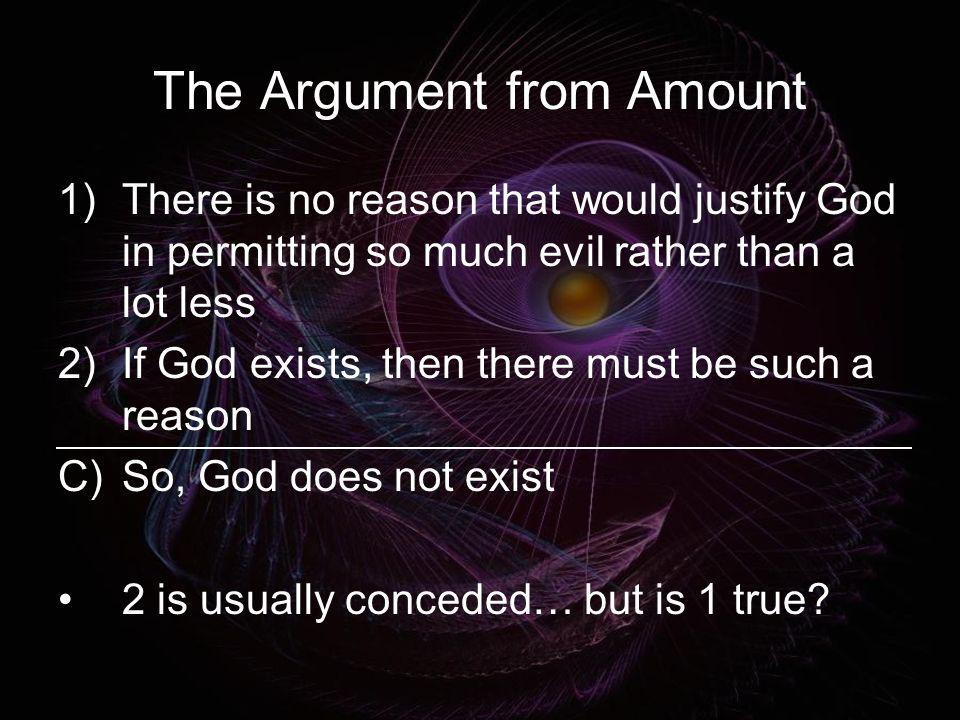 The Argument from Amount