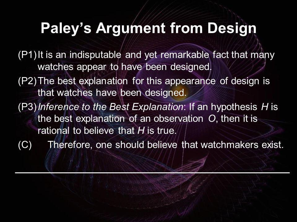Paley's Argument from Design