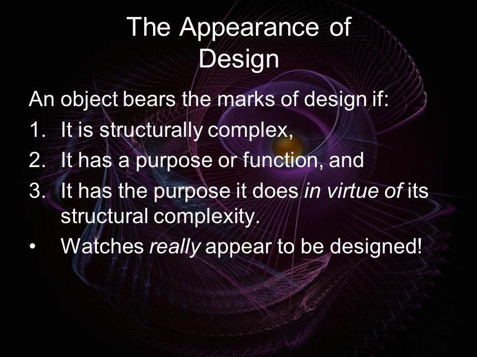 The Appearance of Design
