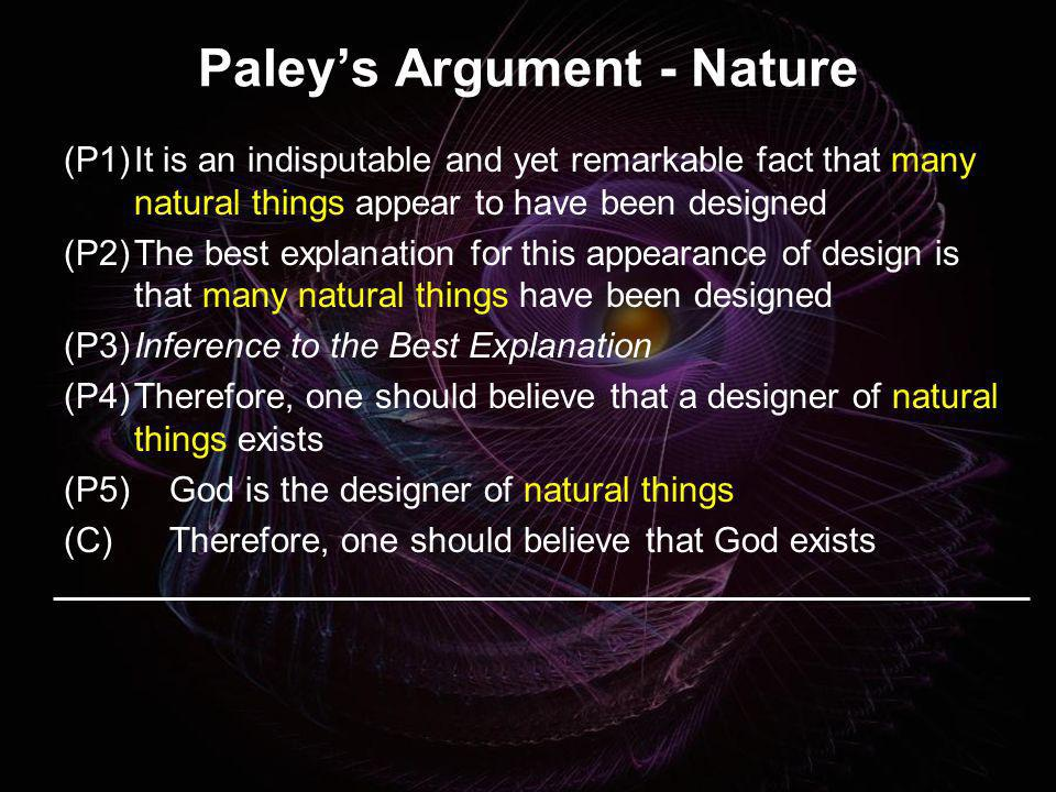 Paley's Argument - Nature