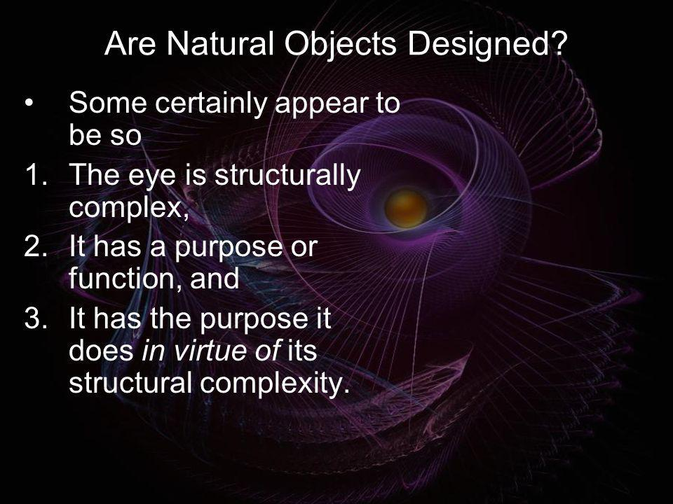 Are Natural Objects Designed