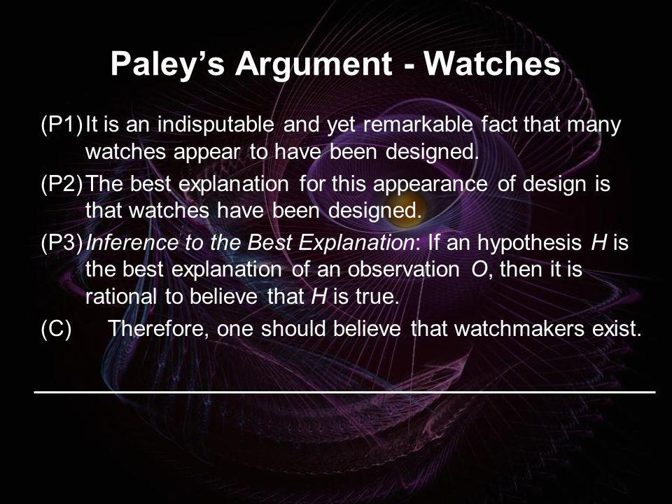 Paley's Argument - Watches