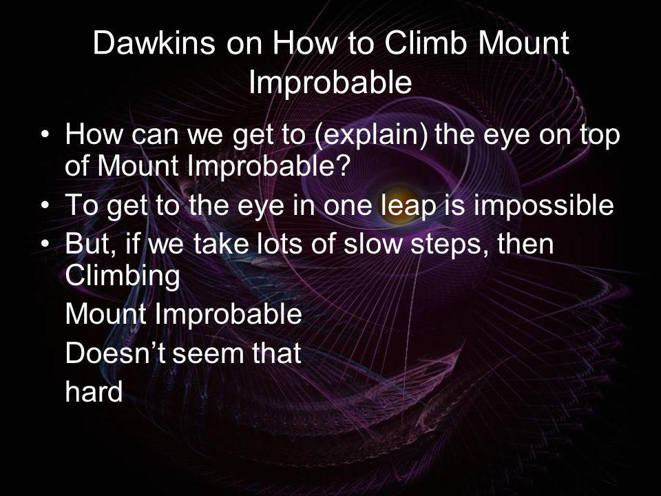 Dawkins on How to Climb Mount Improbable