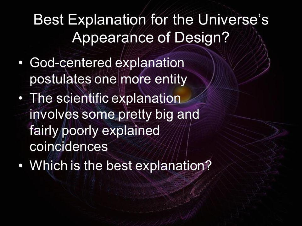 Best Explanation for the Universe's Appearance of Design