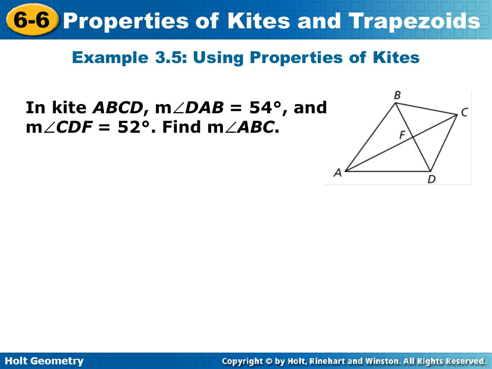 Example 3.5: Using Properties of Kites