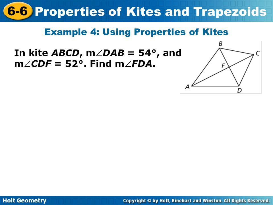 Example 4: Using Properties of Kites