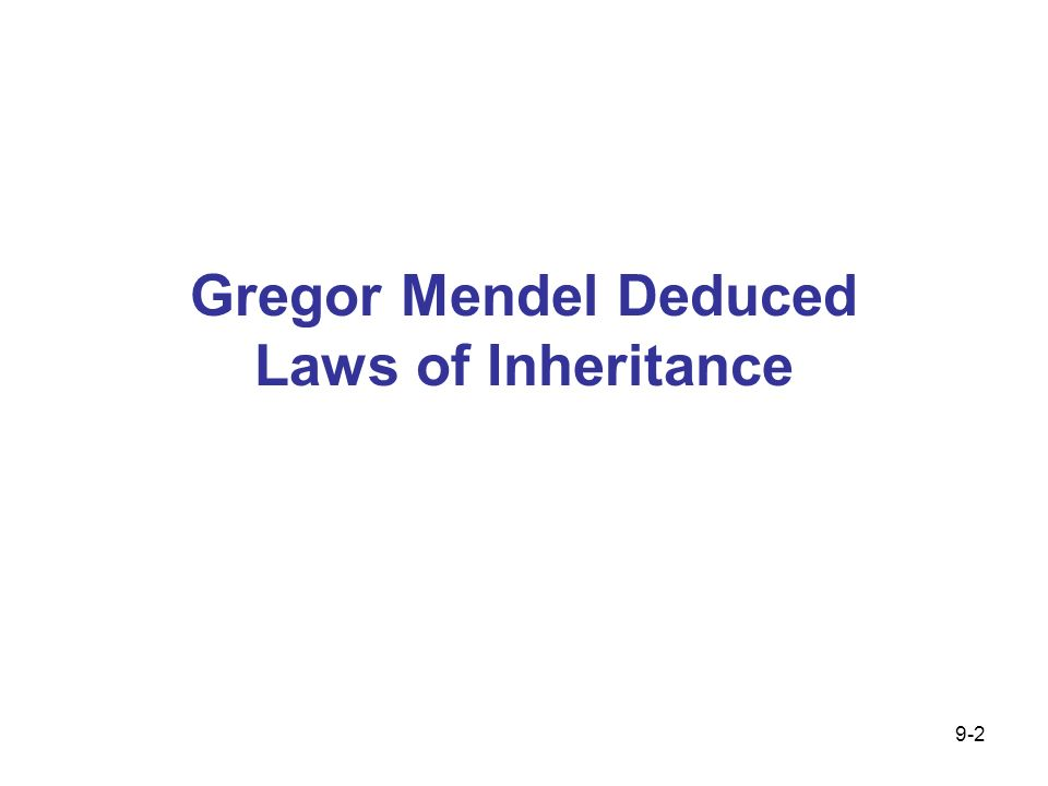 Gregor Mendel Deduced Laws of Inheritance