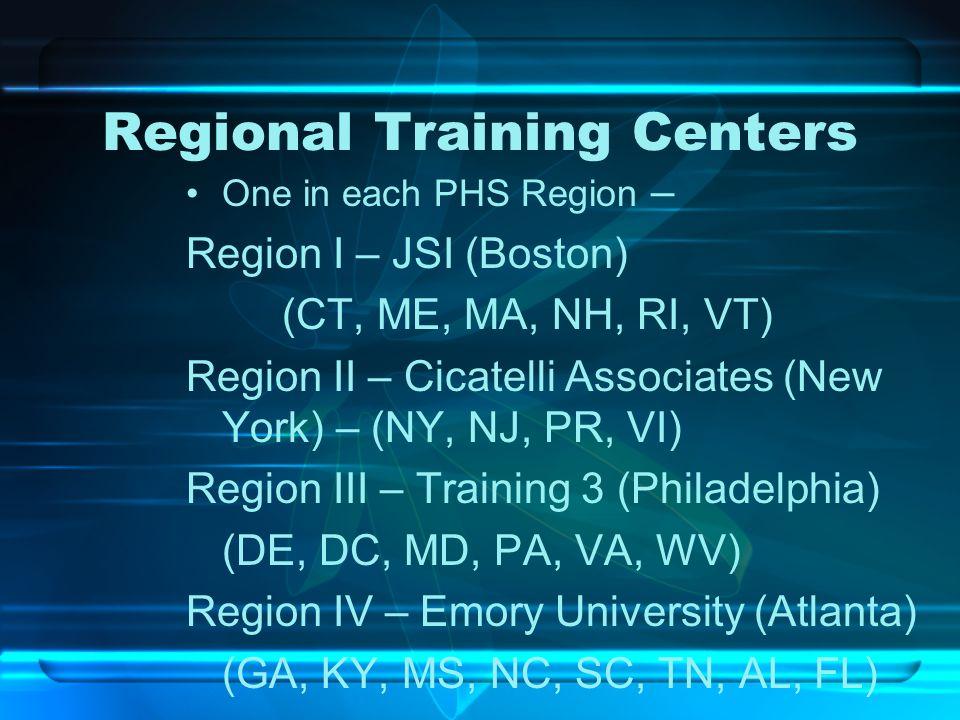 Regional Training Centers