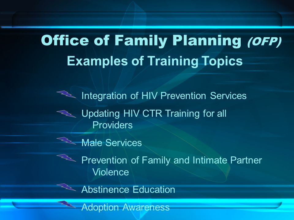 Office of Family Planning (OFP)