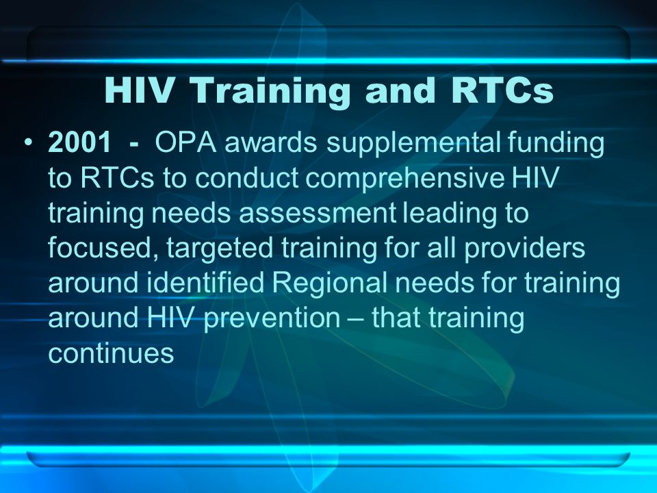 HIV Training and RTCs